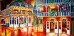 Red Buildings Posters - Divine New Orleans Poster by Diane Millsap