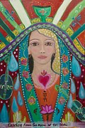 Sacred Feminine Paintings - Divine Spark of Creativity by Havi Mandell