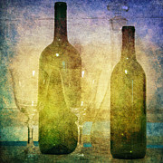 Wine Glasses Prints - Divine Wine Print by Judy Hall-Folde