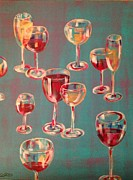 Wine Glasses Paintings - Divine Wine by Kelli Perk