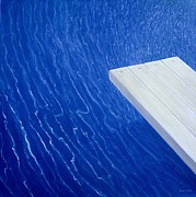 Swimming Art - Diving Board 2004 by Lincoln Seligman