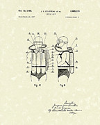 Gear Drawings Metal Prints - Diving Unit 1949 Patent Art  Metal Print by Prior Art Design