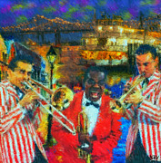 New Orleans Paintings - Dixeland by Kevin Rogerson