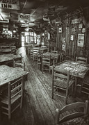Monochrome Framed Prints - Dixie Chicken Interior Framed Print by Scott Norris