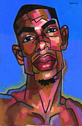 African-american Paintings - Dj by Douglas Simonson