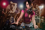 Listen Prints - DJ Girl Print by Jt PhotoDesign
