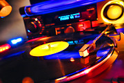Disc Photo Prints - DJ s Delight Print by Olivier Le Queinec