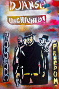 Stencil Art Paintings - DJANGO Freedom by Tony B Conscious