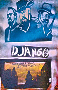 Stencil Art Paintings - Django Once Upon A Time by Tony B Conscious