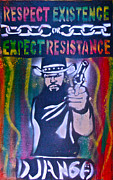 Stencil Art Paintings - Django Rasta Resistance by Tony B Conscious