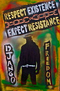 Stencil Art Paintings - Django Resistance by Tony B Conscious