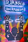 Stencil Art Paintings - DJANGO Unchained 2 by Tony B Conscious