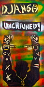 Slavery Painting Framed Prints - Django Unchained Framed Print by Tony B Conscious