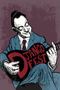 Swing Mixed Media Originals - DjangoFest by Thomas Seltzer