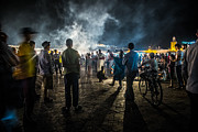 Night Scenes Prints - Djemaa El Fna Print by Sabino Parente