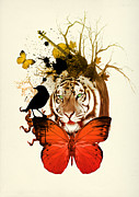 The Tiger Metal Prints - Do Not Be Sad  Metal Print by Mark Ashkenazi