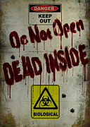 Zombie Posters - Do Not Open  Poster by Cinema Photography