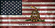 U S Flag Digital Art Posters - Do Not Tread On Us Flag Poster by Daniel Hagerman