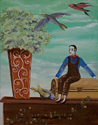 Print On Canvas Prints - Do you mime  Print by Susan Culver
