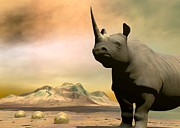 Rhinocerus Digital Art Originals - Do you really want to hurt me by Sipo Liimatainen