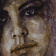 Face  Prints - Do You Think Of Her When Your With Me Print by Paul Lovering