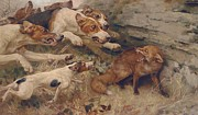 Puppies Paintings - Do Your Worst by Alfred William Strutt