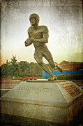 Bronze Sculpture Prints - Doak Walker Statue Print by Joan Carroll