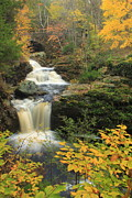Autumn Foliage Photos - Doanes Falls in Autumn by John Burk