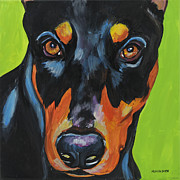 Doberman Pinscher Paintings - Doberman Pinscher by Melissa Smith