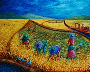 Colorful Landscape Paintings - Doble Ani by Paul Hilario