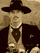 Doc Digital Art - Doc Holliday by Marion Matteo
