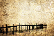 Worn In Metal Prints - Dock 2 Metal Print by Skip Nall