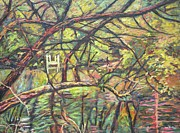Impressionism Originals - Dock at Pandapas by Kendall Kessler