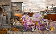 Talking Metal Prints - Dock Buddies Metal Print by Betsy A Cutler East Coast Barrier Islands