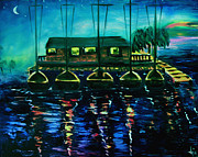 Docked Sailboats Originals - Docked by Agnes Kaminski