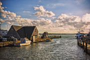Obadiah Prints - Docked boats Woods Hole Cape Cod MA  Print by Marianne Campolongo
