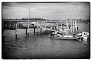 Docked Boat Prints - Docked in South Carolina Print by John Rizzuto