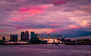 Canary Metal Prints - Docklands and O2 Arena Metal Print by Dawn OConnor
