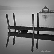 Meredith Framed Prints - Docks and Gazebo Framed Print by Dave Gordon