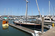 Boats In The Harbor Prints - Docks at Sausalito California 5D22688 Print by Wingsdomain Art and Photography