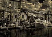 Portland Harbor Prints - Dockside  Print by Bob Orsillo