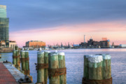 Pilings Prints - Dockside Print by JC Findley