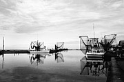 Shrimp Boat Prints - Dockside Print by Scott Pellegrin