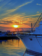 Dockside Sunset Print by Kathy Baccari