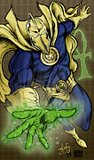 Justice Digital Art Framed Prints - Doctor Fate Framed Print by John Ashton Golden