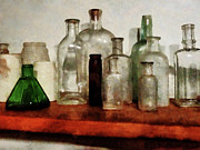 Drug Store Framed Prints - Doctor - Medicine Bottles Tall and Short Framed Print by Susan Savad