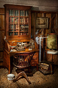 Antique Books Prints - Doctor - My tiny little office Print by Mike Savad