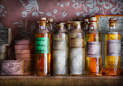 Bottles Prints - Doctor - Perfume - Soap and Cologne Print by Mike Savad