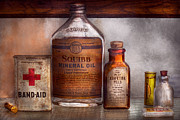 Antique Bottles Art - Doctor - Pharmacueticals  by Mike Savad