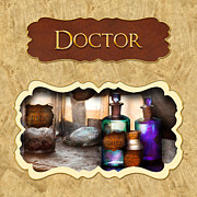 Apothecaries Posters - Doctor - pharmacy button Poster by Mike Savad